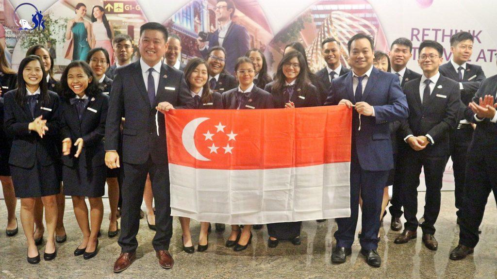 44th SPYs Send-Off Ceremony - Singapore Flag