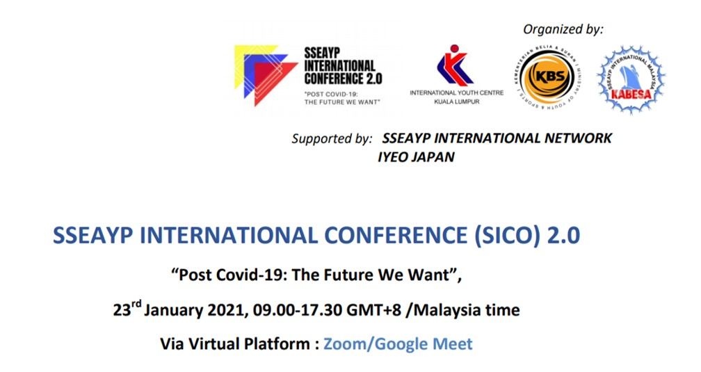 """[For Application] SSEAYP International Conference (SICO) 2.0 – """"Post Covid-19: The Future We Want"""""""